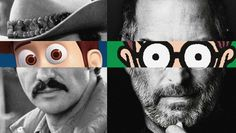 Ok, so today's featured project is somewhat different... Portuguese designer Rui Pinho have created these visual mashups where he pairs up the face of a celebrity with the eyes of a popular cartoon. Some of them looks a bit goofy but some actually work surprisingly well. Just look at Burt Reynolds and Woody where both the cowboy theme and their faces seems to line up.