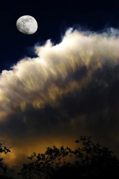 Moon and Cloud, by Craig Royal. Prints available. #photography #moon #clouds