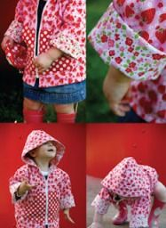 Tips for sewing on PUL fabric - our family has several PUL raincoats. it works very well but isn't sticky like traditional waterproof fabric.