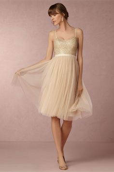 BHLDN Coppelia Dress in  Bridesmaids Bridesmaid Dresses Short at BHLDN