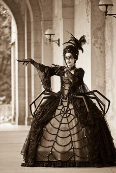 Goth spider costume for Goth festival photo by fuerst, via Flickr