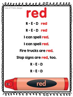 Page 1 of 10 (incl white) Color Songs Preschool, Color Red Activities, Kindergarten Songs, Preschool Learning Activities, Preschool Lessons, Preschool Classroom, Classroom Ideas, Red Classroom, Preschool Director