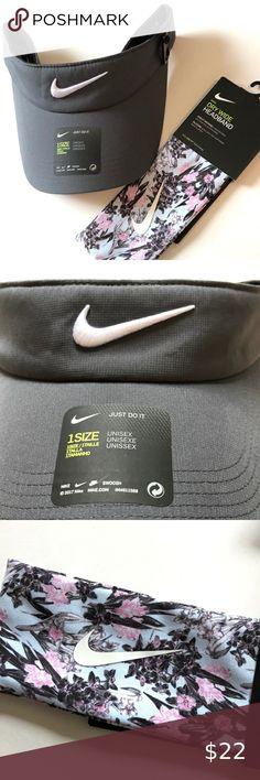 Nike Girl/'s Logo Headband Volt//Midnight Navy New
