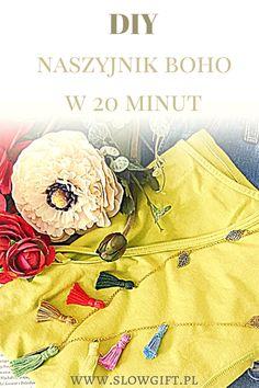boho, necless, tassels, tutorial, DIY / Jak zrobić naszyjnik boho w 20 minut? - Slow gift