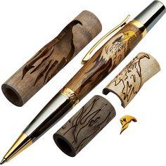 Woodturners Bald Eagle Laser Cut Inlay Pen Kit Blank - Rockler.com $25.99