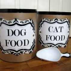 Like many of you I have pets - a dog and two cats. I like to keep their things organized and looking nice.  You can customize these decorations all that you want to!  I love it!