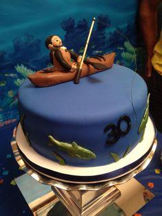 30th Kayak Fishing Cake