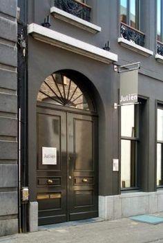 The door of Hotel Julien, Antwerp, Belgium