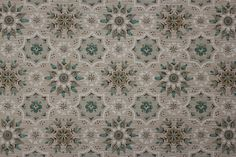 Vintage Wallpaper 1960's Turquoise and Gray by RosiesWallpaper, $14.00