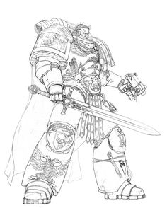 bolt_pistol imperium mantle sketch skirill(kuril_solomov) space_marines sword ultramarines