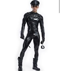 Latex Men, Sexy Latex, Rubber Catsuit, Compression T Shirt, Sport Tights, Fetish Fashion, Asian Men, Sexy Outfits, Leather Pants