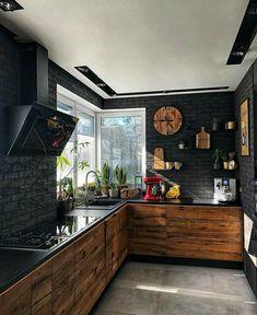 9 best black kitchens kitchen trends you need to see 3 « Kitchen Design Kitchen Room Design, Modern Kitchen Design, Home Decor Kitchen, Interior Design Kitchen, Decorating Kitchen, Kitchen Ideas, Industrial Kitchen Design, Loft Kitchen, Kitchen Trends