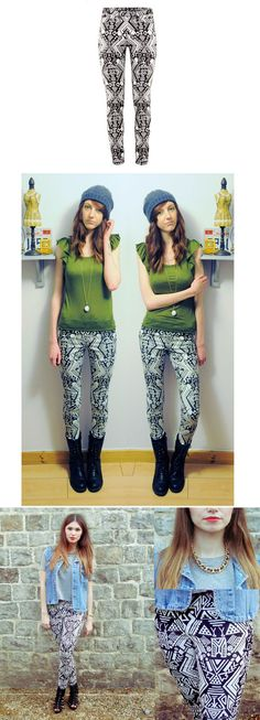#Udobuy  African Tribal Totem Printed Stretch Tight Trousers$39