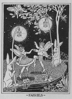 There are fairies at the bottom of our garden! ill by Marion H. Matchitt | by katinthecupboard
