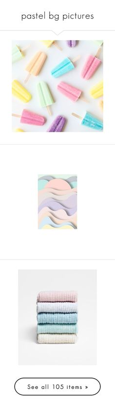 """""""pastel bg pictures"""" by impossibleyear ❤ liked on Polyvore featuring backgrounds, pictures, food, icon pictures, photos, filler, wallpaper, effect, picture frame and borders"""