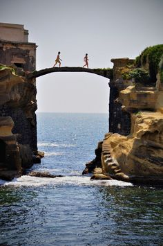 Gaiola Bridge in Naples, Italy