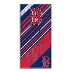 boston red sox mlb fiber reactive beach towel diagonal series 28in x 58in - Boston Red Sox Bath Accessories