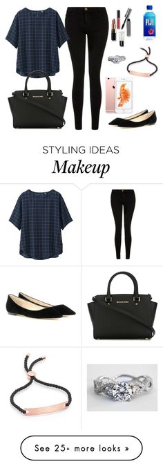 """""""Untitled #28"""" by maddie1510 on Polyvore featuring Current/Elliott, Uniqlo, Monica Vinader, MICHAEL Michael Kors, Bobbi Brown Cosmetics and Jimmy Choo"""