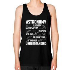 Astronomy is not about thing Unisex Fine Jersey Tank (on man)