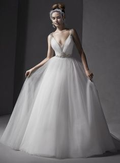 Mariam Tulle Ball Gown bridal gowns and designer wedding dresses Wedding Dress Shapes, Wedding Dresses Photos, Perfect Wedding Dress, Cheap Wedding Dress, Designer Wedding Dresses, Wedding Pics, Tulle Ball Gown, Ball Dresses, Ball Gowns