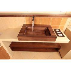 PRODUCTS :: LIVING AND DESIGN :: Bathroom :: Washbasins :: WOODEN BASIN HRANO