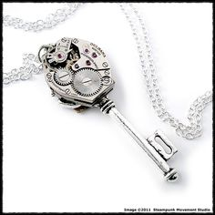 steam punk key necklace