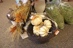 White pumpkins! Just in time for Fall! ~Bella B Decor