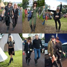Hunter Original creates exclusive personalised boots for the festival season. #Glastonbury