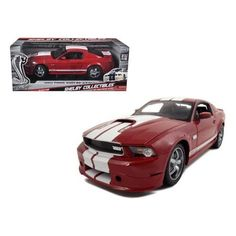 2011 Ford Shelby Mustang GT350 Red 1/18 Diecast Model Car by Shelby Collectibles