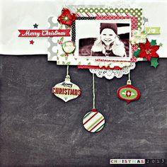 My Creative Scrapbook December Main kit created by Christin Gronnslett.