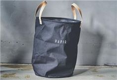 "229,- Trend Design Kurv ""Papir"" Sort 35xH54cm (298-459813) Design Trends, Reusable Tote Bags, Decor, Decoration, Decorating, Deco"