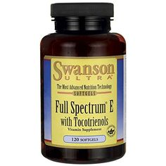 Swanson Full Spectrum E with Tocotrienols 120 Sgels ** More info could be found at the affiliate link Amazon.com on image.