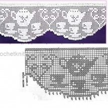 Lace Edging Crochet Patterns Part 2 - Beautiful Crochet Patterns and Knitting Patterns Crochet Boarders, Crochet Edging Patterns, Filet Crochet Charts, Crochet Lace Edging, Crochet Diagram, Crochet Doilies, Crochet Stitches, Knitting Patterns, Tutorial Crochet