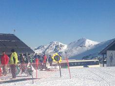Mt Hutt Skiing area on a mountain