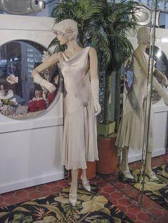 dress gown flapper modern millie gatsby downton abby bead beige