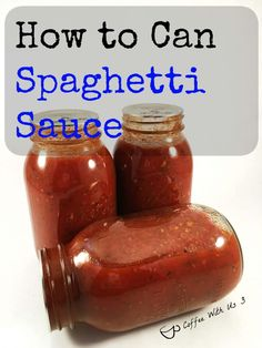 Low Carb Recipes To The Prism Weight Reduction Program In This Post I Show You How To Can Spaghetti Sauce. Every one of Those Tomatoes Ripen At Once And This Is One Way To Preserve Your Harvest. Canning Homemade Spaghetti Sauce, Spaghetti Sauce Easy, Spaghetti Recipes, Homemade Tomato Sauce, Canned Tomato Sauce, Homemade Food, Canning Vegetables, Canning Tomatoes, Tomato Canning
