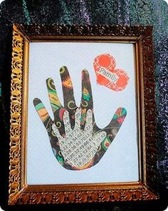 Another creative take on handprint art. Baby Crafts, Toddler Crafts, Crafts To Do, Toddler Activities, Crafts For Kids, Arts And Crafts, Paper Crafts, Deco Dyi, Projects For Kids