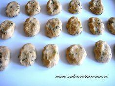 Chiftele din cartofi si ciuperci Baked Potato, Muffin, Potatoes, Baking, Breakfast, Ethnic Recipes, Food, Morning Coffee, Potato