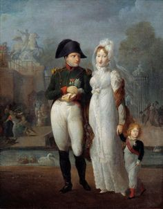 Portrait of Napoleon I and Marie Louise with their son by Corbis