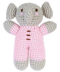 Pink Baby Crochet Elephant