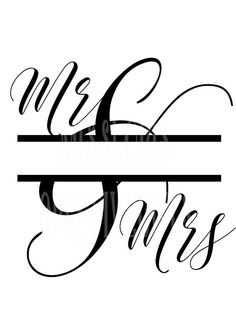 Mr and Mrs split letter  SVG Cut file  by MissLoriscreativecut