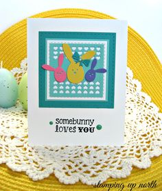 The challenge at Dies R Us  today is EASTER!     I made a fun card using Impression Obsession's Easter Bunny Trio. I added a bow from ...