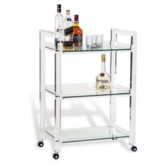 Check out this item at One Kings Lane! Ava Acrylic Bar Cart, Clear
