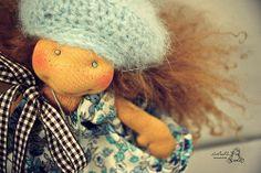 LuLu in her Flowery Dress, by LesPouPZ Handmade Waldorf Dolls