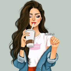 Shared by Find images and videos about cute, art and girly on We Heart It - the app to get lost in what you love. Beautiful Girl Drawing, Cute Girl Drawing, Cartoon Girl Drawing, Best Friend Drawings, Girly Drawings, Lovely Girl Image, Girls Image, Girly M, Pop Art Girl