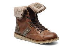 Keven Mustang shoes (Marron) : livraison gratuite de vos Bottines et boots Keven Mustang shoes chez Sarenza