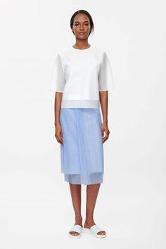 COS   Translucent layer skirt