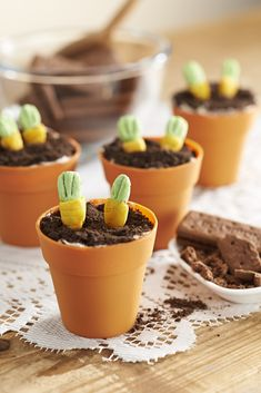 How to Make Potted Carrot Cupcakes #Recipe #Cupcakes #CarrotCake