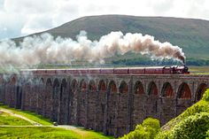 The Settle to Carlisle line - and to think British Rail wanted to close Train Tracks, Train Rides, Steam Railway, British Rail, Old Trains, Train Engines, Carlisle England, Carlisle Cumbria, Steam Locomotive