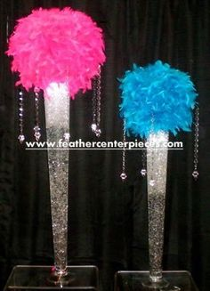 Feather Ball Centerpiece